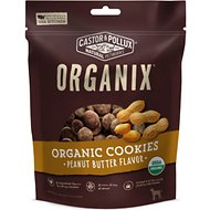 Castor & Pollux Organix Organic Peanut Butter Flavor Cookies Dog Treats, 12-oz bag