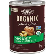 Castor & Pollux Organix Grain-Free Organic Chicken & Potato Recipe Adult Canned Dog Food, 12.7-oz, case of 12