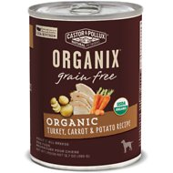 Castor & Pollux Organix Grain-Free Organic Turkey, Carrot & Potato Recipe Adult Canned Dog Food, 12.7-oz, case of 12