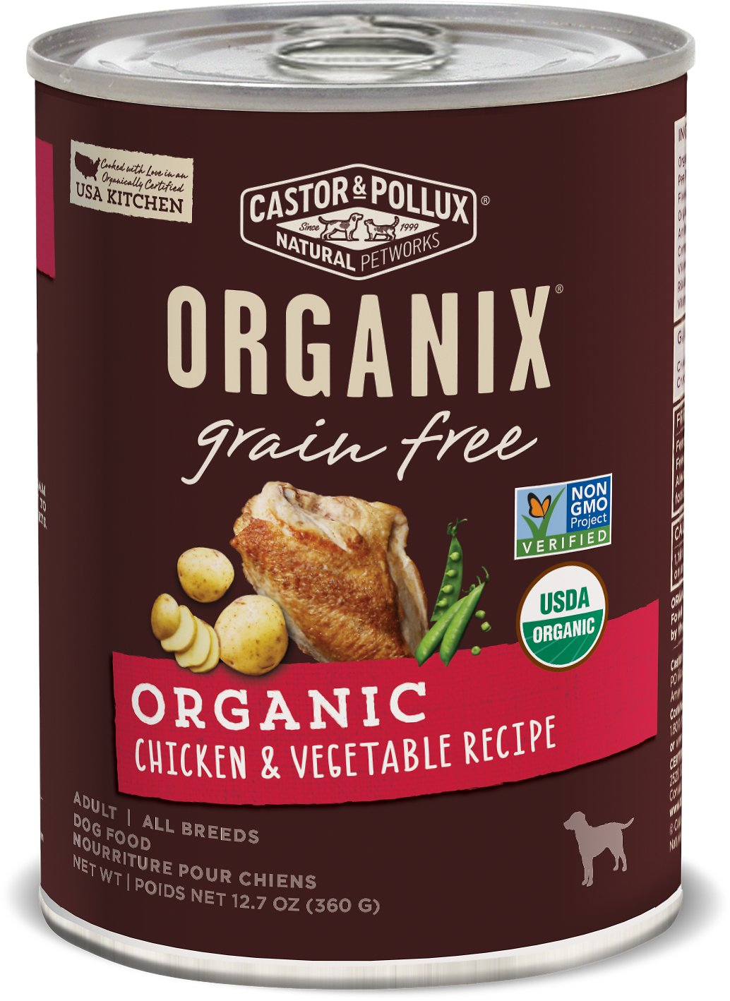 Organic Chicken Canned Dog Food