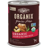 Castor & Pollux Organix Grain-Free Organic Chicken & Vegetable Recipe Adult Canned Dog Food, 12.7-oz, case of 12