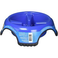 JW Pet Skid Stop Slow Feed Dog Bowl, Color Varies, Jumbo