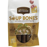 Rachael Ray Nutrish Soup Bones Turkey & Rice Flavor Dog Chew Treats, 6.3-oz bag