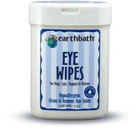 Earthbath Eye Wipes For Dogs Amp Cats 25 Count Chewy Com