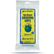 Earthbath Hypo-Allergenic Travel Grooming Wipes for Dogs & Cats, 28 count