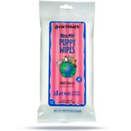 Earthbath Ultra-Mild Wild Cherry Puppy Travel Grooming Wipes, 28- count