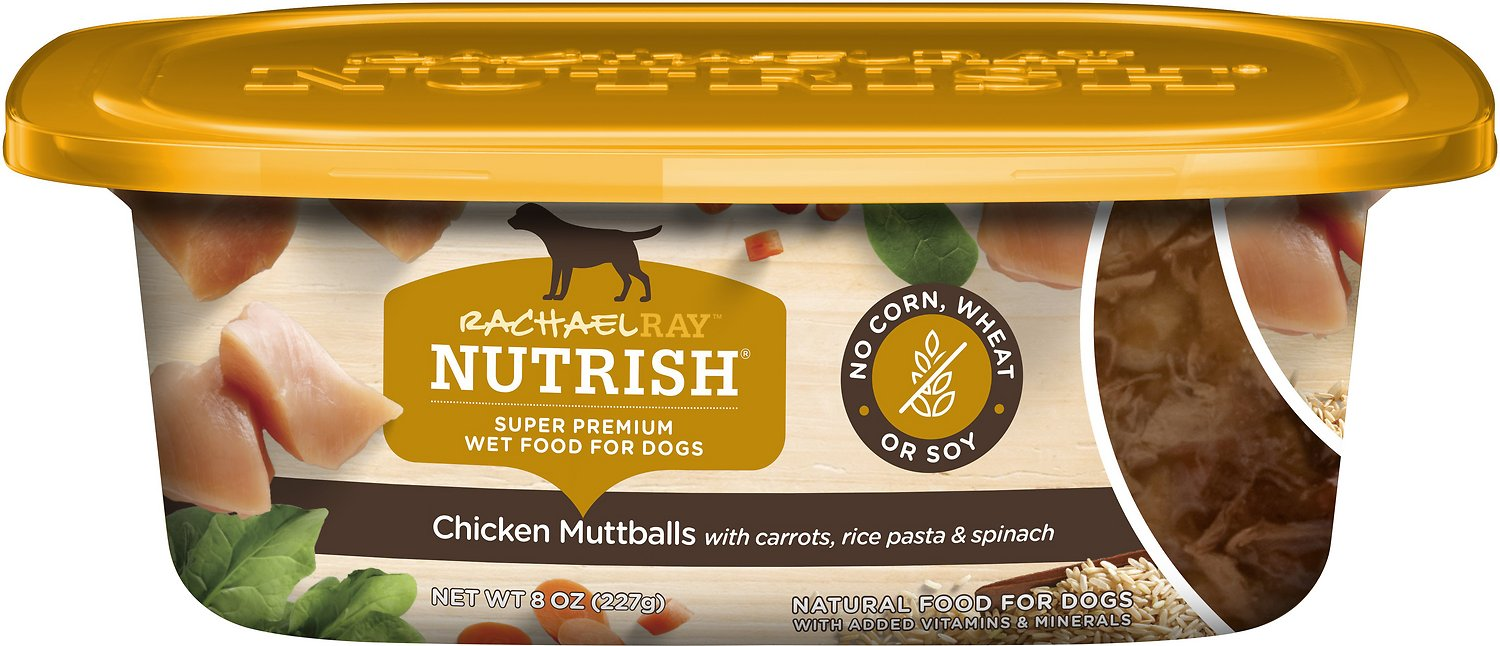Rachael Ray Nutrish Natural Chicken Mutt With Pasta Natural Wet Dog Food 8 Oz Tub Case Of 8