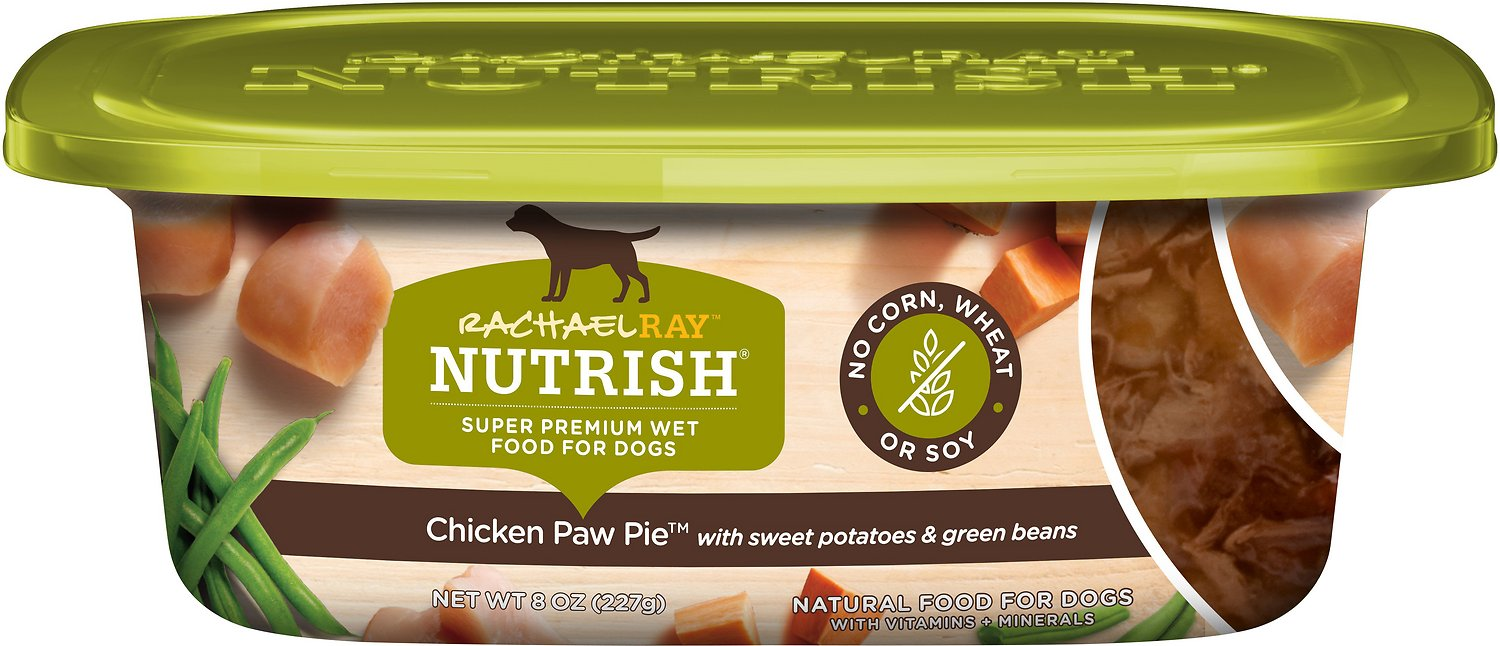 Rachael Ray Nutrish Natural Chicken Paw Pie Natural Wet Dog Food 8 Oz Tub Case Of 8