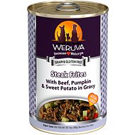 Weruva Steak Frites with Beef, Pumpkin & Sweet Potatoes in Gravy Grain-Free Canned Dog Food, 14-oz, case of 12