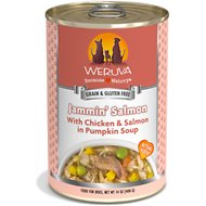 Weruva Jammin' Salmon with Chicken & Salmon in Pumpkin Soup Grain-Free Canned Dog Food, 14-oz, case of 12