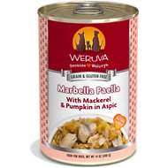 Weruva Marbella Paella with Mackerel & Pumpkin in Aspic Grain-Free Canned Dog Food, 14-oz, case of 12