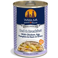 Weruva Bed & Breakfast with Chicken, Egg, & Pumpkin in Gravy Grain-Free Canned Dog Food, 14-oz, case of 12