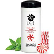 John Paul Pet Tooth & Gum Wipes for Dogs & Cats, 45-count