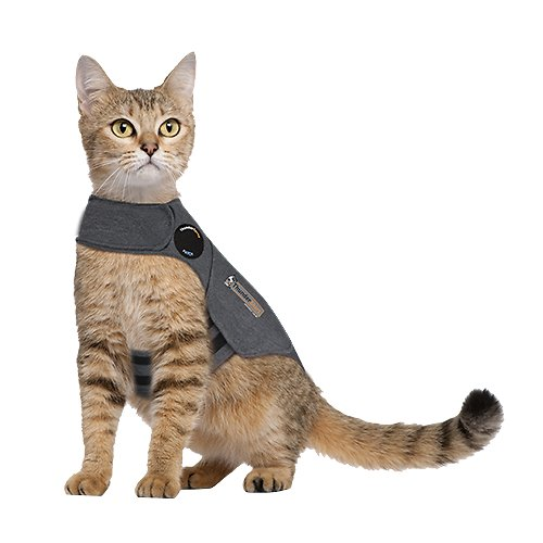 thundershirt anxiety calming aid for cats heather grey small. Black Bedroom Furniture Sets. Home Design Ideas