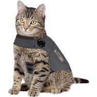 ThunderShirt Anxiety & Calming Aid for Cats, Heather Grey, Large