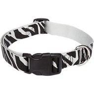 East Side Collection Animal Print Dog Collar, Zebra, Small