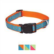 East Side Collection Polka Dot Dog Collar, Orange, Large