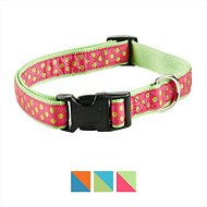 East Side Collection Polka Dot Dog Collar, Raspberry, Small