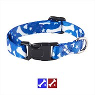 Casual Canine Pooch Pattern Dog Collar, Blue Bone, Medium