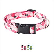 Casual Canine Pooch Pattern Argyle Dog Collar, Pink, Medium