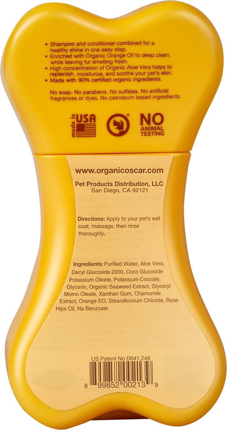 Organic Oscar 2 in 1 Shampoo & Conditioner For Dogs, 8-oz bottle