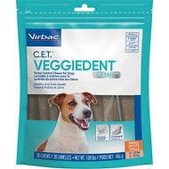 Virbac C.E.T. VeggieDent Tartar Control Dog Chews, Small, 30 count