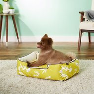 P.L.A.Y. Pet Lifestyle and You Bamboo Lounge Bed, Mustard, Small