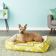 P.L.A.Y. Pet Lifestyle and You Bamboo Lounge Bed, Mustard, Large