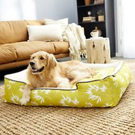 P.L.A.Y. Pet Lifestyle and You Bamboo Lounge Bed, Mustard, X Large