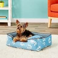 P.L.A.Y. Pet Lifestyle and You Bamboo Lounge Bed, Blue, Small