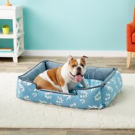 P.L.A.Y. Pet Lifestyle and You Bamboo Lounge Bed, Blue, Large