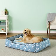 P.L.A.Y. Pet Lifestyle and You Bamboo Lounge Bed, Blue, X Large