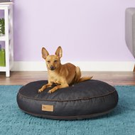 P.L.A.Y. Pet Lifestyle and You Urban Denim Round Bed, Brown, Small