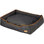 P.L.A.Y. Pet Lifestyle and You Urban Denim Lounge Bed, Orange, Small