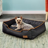 P.L.A.Y. Pet Lifestyle and You Urban Denim Lounge Bed, Orange, Medium