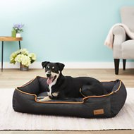 P.L.A.Y. Pet Lifestyle and You Urban Denim Lounge Bed, Orange, Large