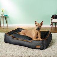 P.L.A.Y. Pet Lifestyle and You Urban Denim Lounge Bed, Orange, X-Large