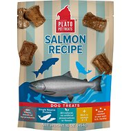 Plato Salmon Strips Dog Treats, 16-oz bag