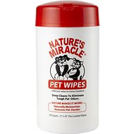 Nature's Miracle Pet Bath Wipes, 70 count dispenser