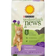 Yesterday's News Softer Texture Unscented Non-Clumping Paper Cat Litter, 26.4-lb bag