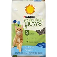 Yesterday's News Softer Texture Fresh Scented Non-Clumping Paper Cat Litter, 26.4-lb bag