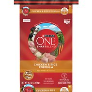Purina ONE SmartBlend Chicken & Rice Adult Formula Dry Dog Food, 16.5-lb bag