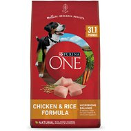 Purina ONE SmartBlend Chicken & Rice Adult Formula Dry Dog Food, 31.1-lb bag