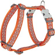 Red Dingo Designer Snake Eyes Dog Harness, Orange, Large