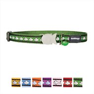 Red Dingo Reflective Cat Collar, Green