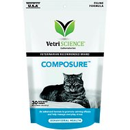 VetriScience Composure Behavioral Health Bite-Sized Cat Chews, 30 count