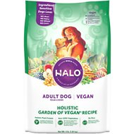 Halo Holistic Garden of Vegan Adult Dry Dog Food, 4-lb bag
