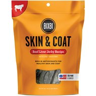 BIXBI Skin & Coat Beef Liver Jerky Dog Treats, 5-oz bag