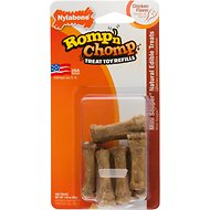 Nylabone Romp 'n Chomp Mini Souper Chew Toy Refill Chicken Flavor Dog Treats, 9-count package