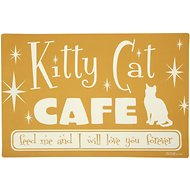 ORE Pet Kitty Cat Cafe Placemat, Orange